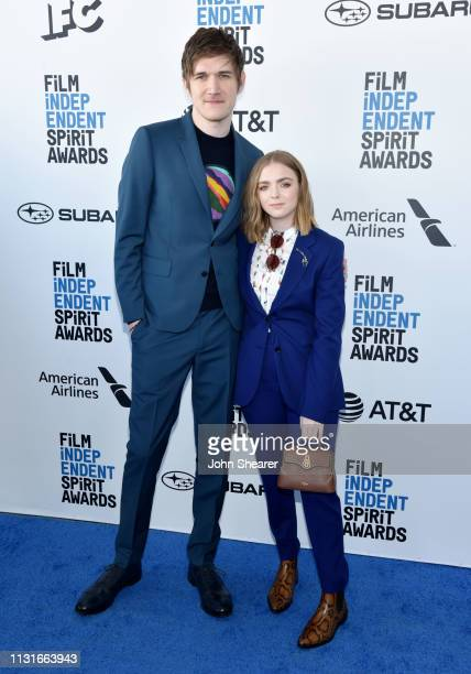 Bo Burnham and Elsie Fisher attend the 2019 Film Independent Spirit Awards on February 23 2019 in Santa Monica California