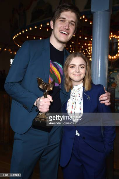 Bo Burnham and Elsie Fisher attend the 2019 Film Independent Spirit Awards after party on February 23 2019 in Santa Monica California