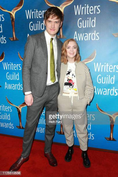 Bo Burnham and Elsie Fisher attend the 2019 Writers Guild Awards LA Ceremony at The Beverly Hilton Hotel on February 17 2019 in Beverly Hills...