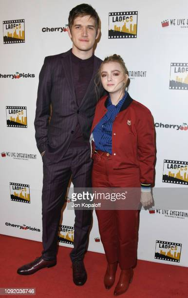 Bo Burnham and Elsie Fisher attend the 2nd Annual Los Angeles Online Film Critics Society Award Ceremony at Taglyan Cultural Complex on January 09...
