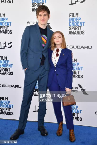Bo Burnham and Elsie Fisher attends the 2019 Film Independent Spirit Awards on February 23 2019 in Santa Monica California