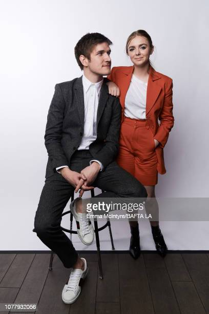 Bo Burnham and Elsie Fisher pose for a portrait at The BAFTA Tea Party on January 5 2019 in Beverly Hills California