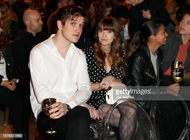 Bo Burnham and Lorene Scafaria attend The New York Times Magazine celebration of The Great Performers Issue at NeueHouse Los Angeles on December 06...