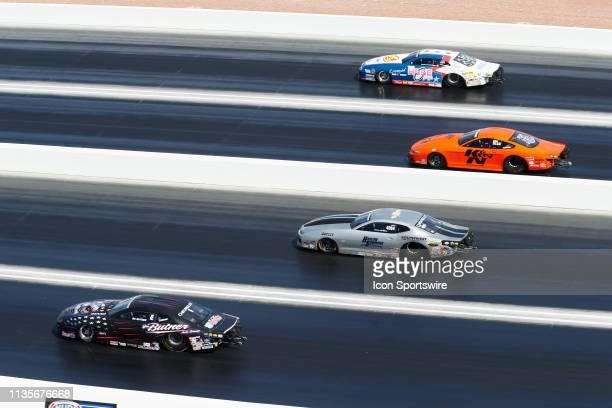 Bo Butner III Bo Knows Racing Chevrolet Camaro NHRA Pro Stock races against Chris McGaha Chevrolet Camaro NHRA Pro Stock Jeff Isbell Ford Mustang...
