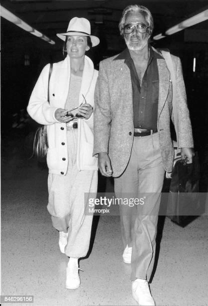 Bo Derek Actress and husband film director John Derek at London airport, November 1986.