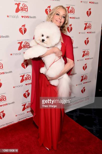 Bo Derek and Flynn attends The American Heart Association's Go Red For Women Red Dress Collection 2019 Presented By Macy's at Hammerstein Ballroom on...
