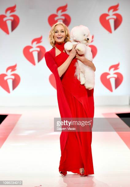Bo Derek and Flynn walk the runway for The American Heart Association's Go Red For Women Red Dress Collection 2019 Presented By Macy's at Hammerstein...