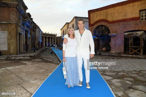 Bo Derek and John Corbett attend Celebrity Fight Night on September 10 2017 in Rome Italy