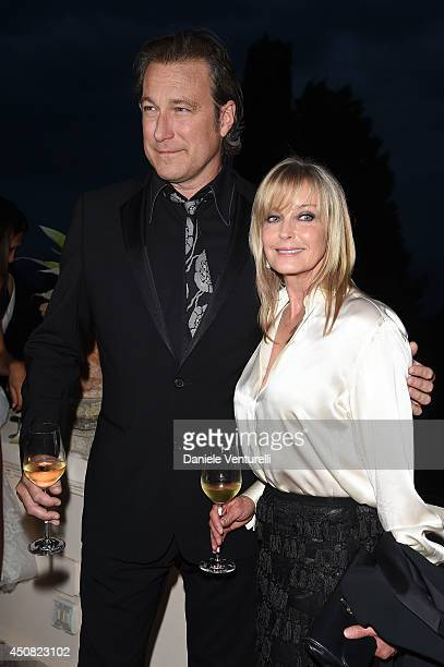 Bo Derek and John Corbett attend the 60th Taormina Film Fest on June 18 2014 in Taormina Italy