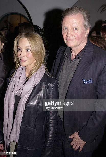 Bo Derek and Jon Voight during 2002 Modern Master Award to Sean Penn in Santa Barbara, California, United States.