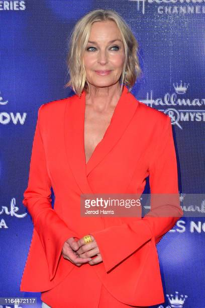 Bo Derek arrives at Hallmark Channel And Hallmark Movies Mysteries Summer 2019 TCA Press Tour Event at Private Residence on July 26 2019 in Beverly...
