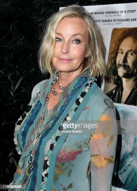 Bo Derek arrives at the Premiere Of Sony Pictures Classic's David Crosby Remember My Name at Linwood Dunn Theater on July 18 2019 in Los Angeles...