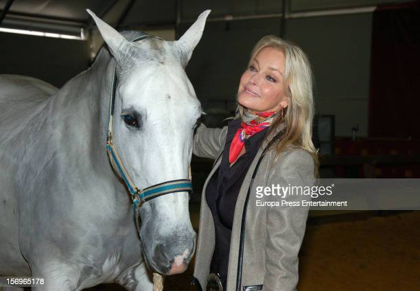 Bo Derek attends SICAB 2012 the International Horse Fair of Spain on November 24 2012 in Seville Spain