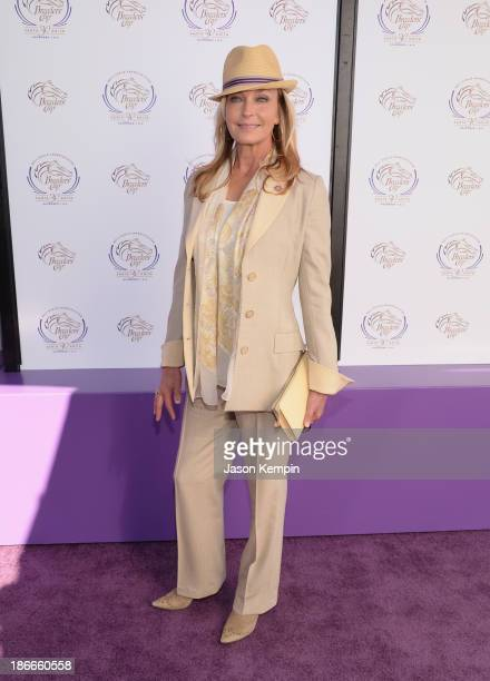 Bo Derek attends the 30th Annual Breeders' Cup 'Songs In The Saddle The Infield Music Fest' at Santa Anita Park on November 2 2013 in Arcadia...