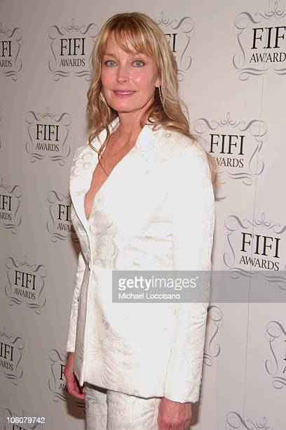 Bo Derek during 34th Annual FIFI Awards Presented by The Fragrance Foundation Press Room at Hammerstein Ballroom in New York City New York United...