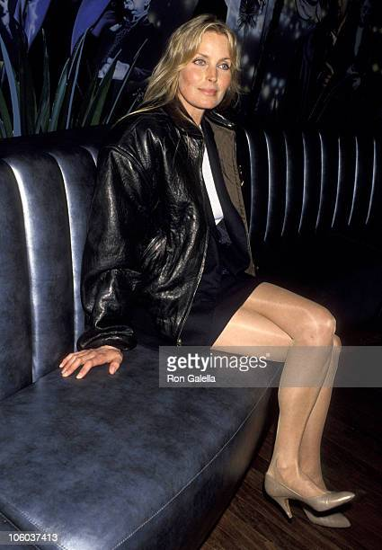 Bo Derek during Bo Derek Presents Bathing Suit From Her Movie 10 April 4 1993 at Planet Hollywood in Santa Ana California United States