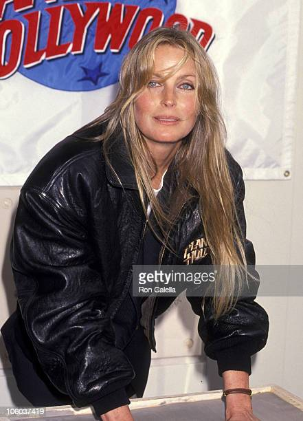 Bo Derek during Bo Derek Presents Bathing Suit From Her Movie '10' April 4 1993 at Planet Hollywood in Santa Ana California United States
