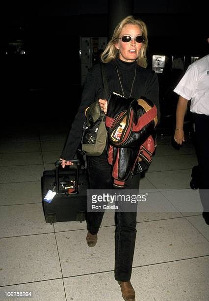 Bo Derek during Bo Derek Sighting at Los Angeles International Airport October 16 1998 at Los Angeles International Airport in Los Angeles California...