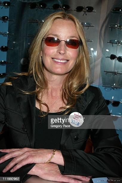 Bo Derek during Celebrities endorse eyewear at the International Vision Expo East 2003 at Jacob Javits Center in New York NY United States