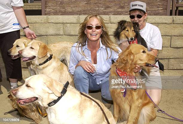 Bo Derek during Festival of the Animals A pet fair to benefit Animal Rescue Organisations at The Equestrian Center in Burbank California United States