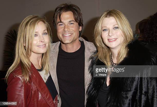 Bo Derek Rob Lowe and Sheryl Berkoff at the Backstage Creations Talent Retreat