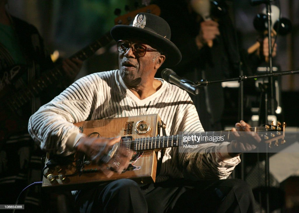 Bo Diddley during 20th Annual Rock and Roll Hall of Fame Induction Ceremony - Rehearsals at Waldorf Astoria in New York City, New York, United States.