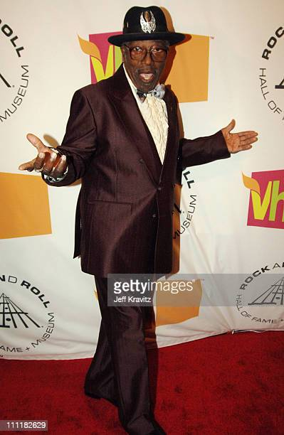 Bo Diddley during 20th Annual Rock and Roll Hall of Fame Induction Ceremony Red Carpet at Waldorf Astoria Hotel in New York City New York United...