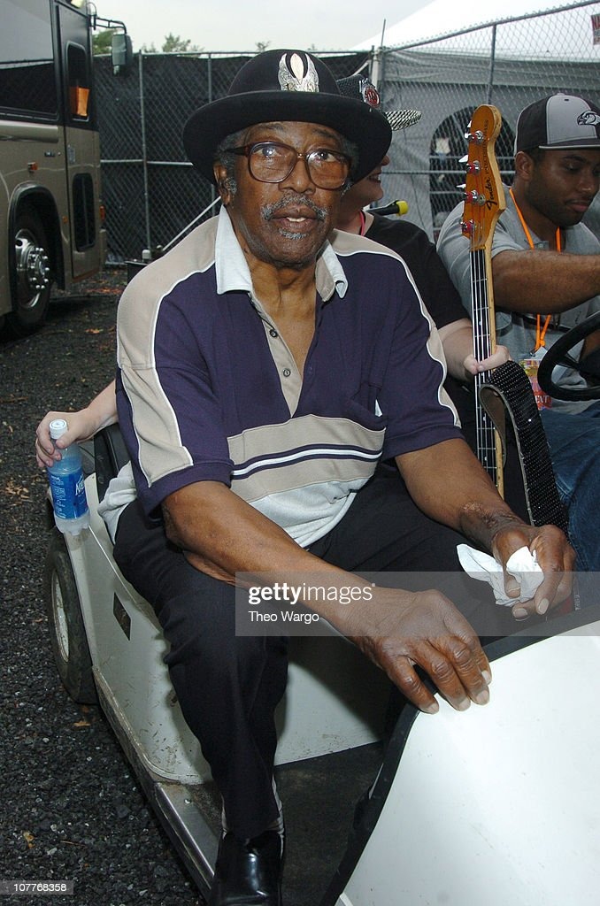 Bo Diddley during Little Steven's Underground Garage Festival Presented by Dunkin' Donuts - Backstage - August 14, 2004 at Randall's Island in New York City, New York, United States.