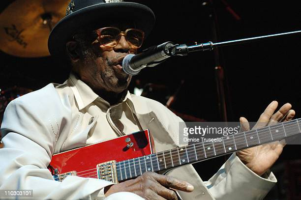 Bo Diddley during Soles4Souls Benefit Concert Featuring Jerry Lee Lewis Chuck Berry Little Richard Bo Diddley Booker T the MG's and Mary Wilson at...