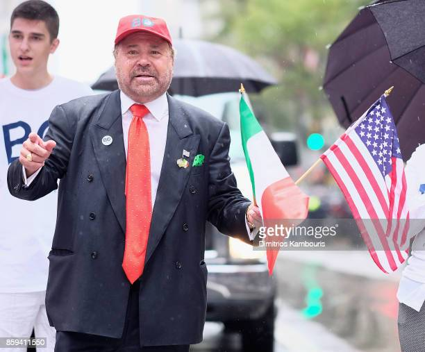 Bo Dietl marches during the 2017 Columbus Day Parade on October 9 2017 in New York City