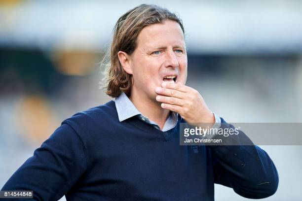 Bo Henriksen head coach of AC Horsens in action during the Danish Alka Superliga match between AGF Arhus and AC Horsens at Ceres Park on July 14 2017...