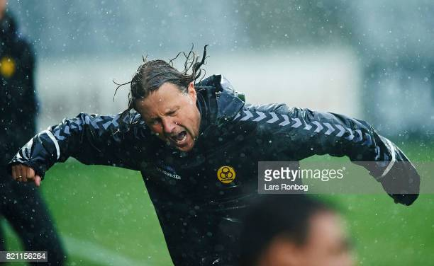 Bo Henriksen head coach of AC Horsens in action during the Danish Alka Superliga match between AC Horsens and Lyngby BK at CASA Arena on July 23 2017...