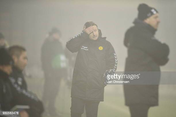 Bo Henriksen head coach of AC Horsens in action during the Danish Alka Superliga match between AC Horsens and Brondby IF at Casa Arena Horsens on...