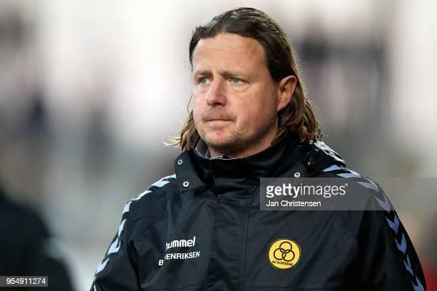 Bo Henriksen head coach of AC Horsens looks on during the Danish Alka Superliga match between AC Horsens and AaB Aalborg at Casa Arena Horsens on May...
