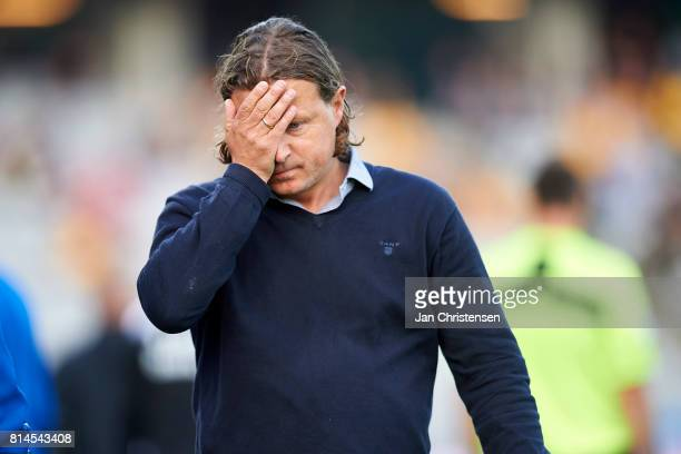 Bo Henriksen head coach of AC Horsens show frustrations during the Danish Alka Superliga match between AGF Arhus and AC Horsens at Ceres Park on July...