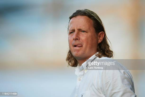 Bo Henriksen manager of AC Horsens looks on during the Danish 3F Superliga match between AC Horsens and AaB Aalborg at CASA Arena on August 26 2019...
