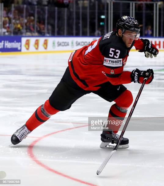 Bo Horvat of Canada skates against Finland during the 2018 IIHF Ice Hockey World Championship Group B game between Canada and Finland at Jyske Bank...