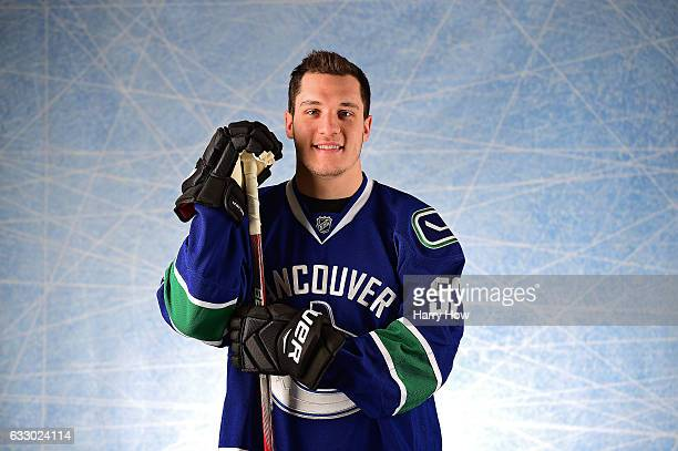 Bo Horvat of the Vancouver Canucks poses for a portrait prior to the 2017 Honda NHL AllStar Game at Staples Center on January 29 2017 in Los Angeles...