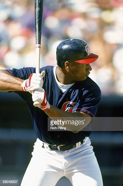 Bo Jackson of the California Angels bats during a 1994 Spring Training game