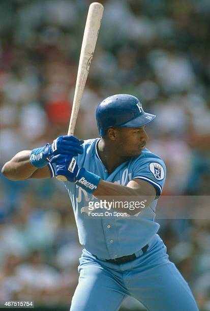 Bo Jackson of the Kansas City Royals bats during an Major League Baseball game circa 1989 Jackson played for the Royals from 198690