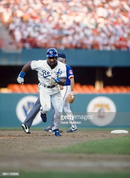 Bo Jackson of the Kansas City Royals plays in the Major League Baseball AllStar Game on July 11 1989 at Anaheim Stadium in Anaheim California Jackson...