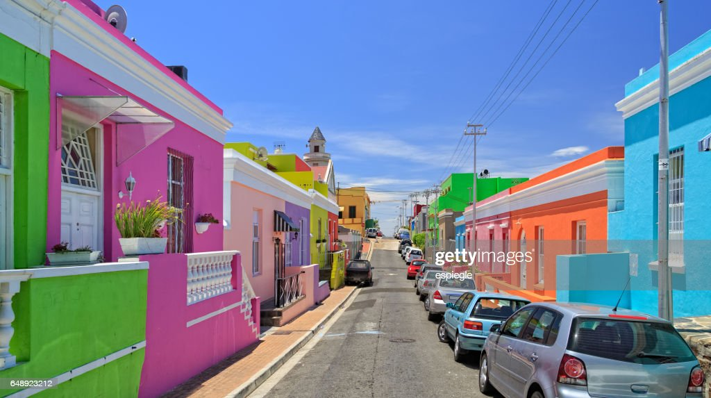 Bo Kaap Township in Cape Town : Stock Photo