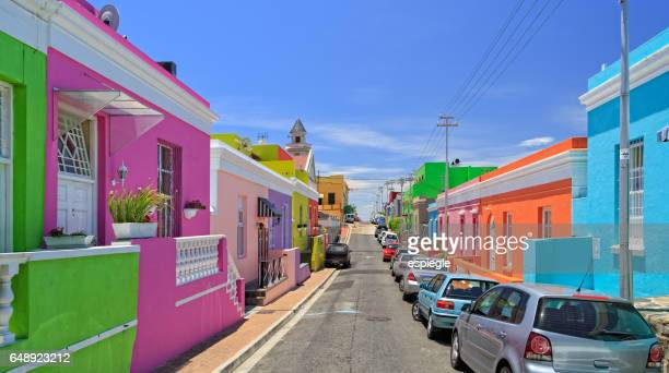 bo kaap township in cape town - south africa stock pictures, royalty-free photos & images