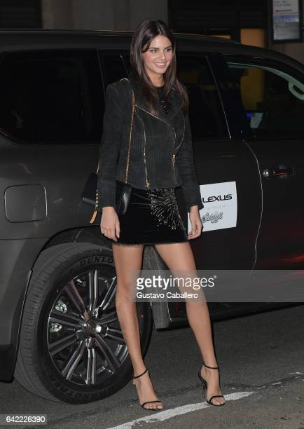 Bo Krsmanovic attends the Sports Illustrated Swimsuit 2017 Launch Event Outside Arrivals at Center415 Event Space on February 16 2017 in New York City