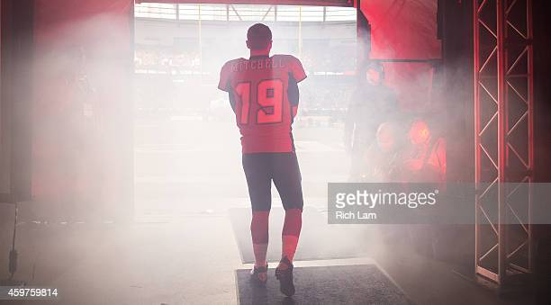 Bo Levi Mitchell of the Calgary Stampeders walks out of the tunnel for player introductions prior to the start of the 102nd Grey Cup Championship...
