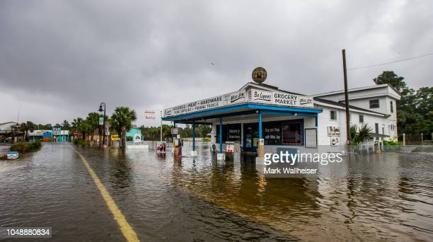 Bo Lynn's Market starts taking water in the town of Saint Marks as Hurricane Michael pushes the storm surge up the Wakulla and Saint Marks Rivers...