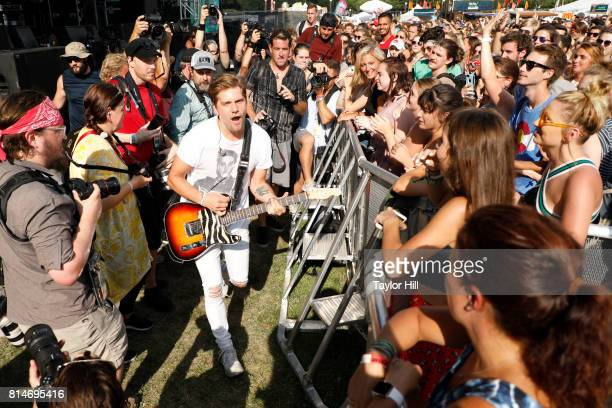 Bo Rinehart of NEEDTOBREATHE performs during the 2017 Forecastle Music Festival at Waterfront Park on July 14, 2017 in Louisville, Kentucky.