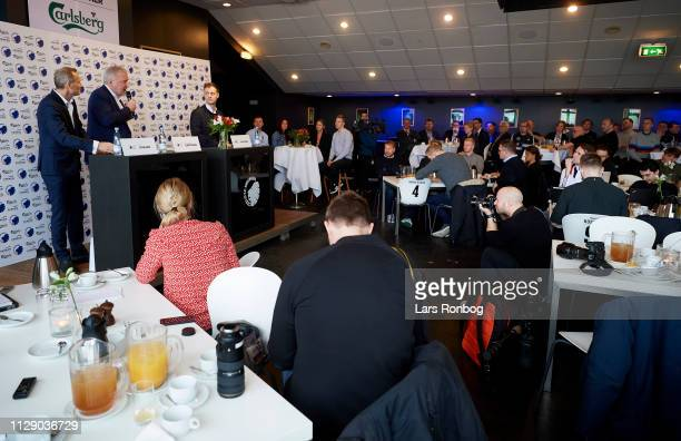 Bo Rygaard , president of FC Copenhagen Parken Sport and Entertainment - Lars Seier Christensen, new shareholder of FC Copenhagen Parken Sport and...