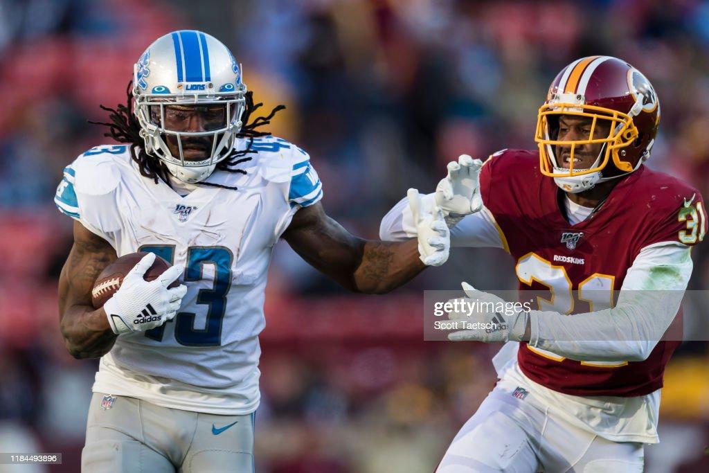 Detroit Lions vWashington Redskins : ニュース写真