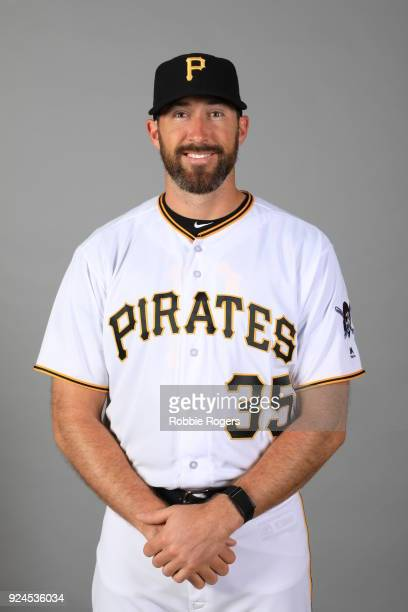 Bo Schultz of the Pittsburgh Pirates poses during Photo Day on Wednesday February 21 2018 at LECOM Park in Bradenton Florida